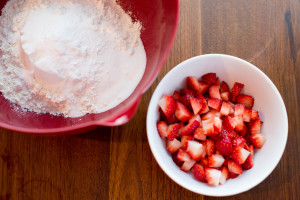 Strawberry Sour Cream Scones - prep work