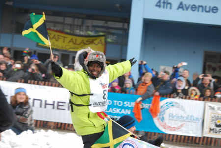 Not to be outdone by the bobsled team, this year there was a Jamaican musher.