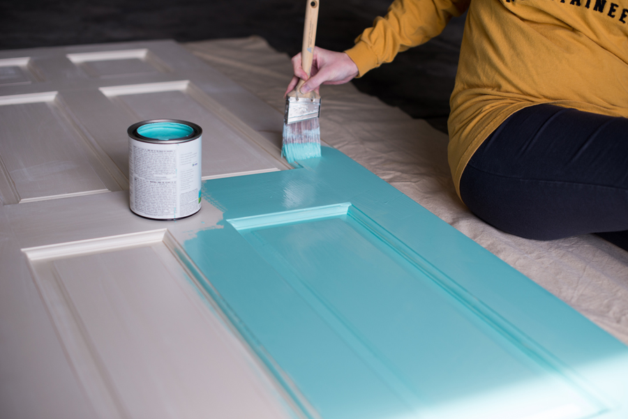 desk door painting - desk project