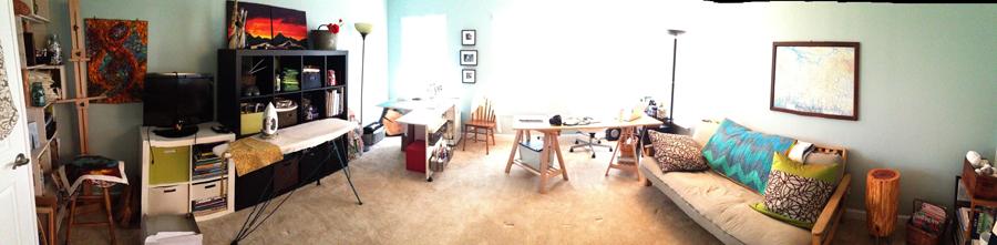 Studio wide shot - desk project