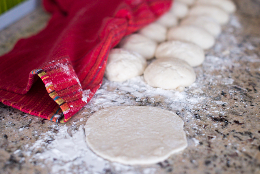 Pita dough rising